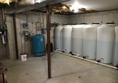 2400+ gallon storage system