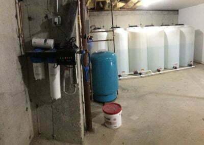 2400+ gallon storage system
